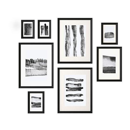 KNOPPÄNG Lijst met afbeelding, set van 8 IKEA
