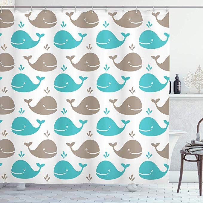 Amazon.com: Ambesonne Sea Animals Shower Curtain, Pattern ...
