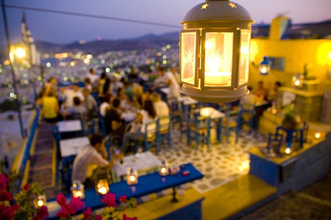 Enjoy food and the great view at Ano Syro