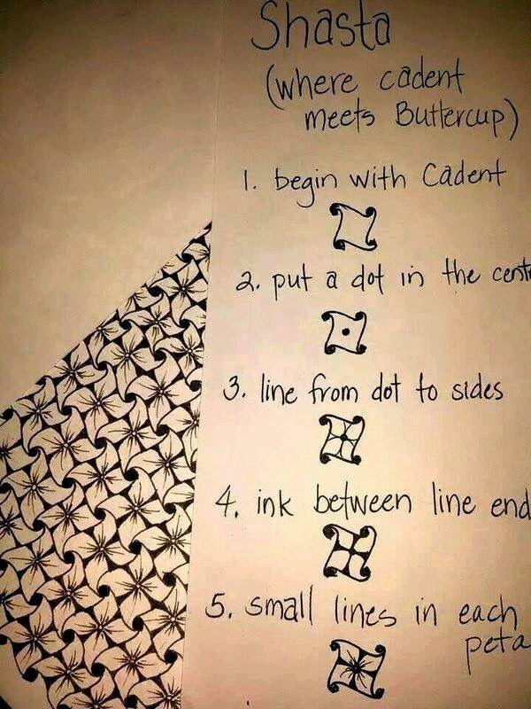 Tango aus zwei MusternEen cadent met een dot in het midden #doodles #tangles #craft #patronen #schetsen