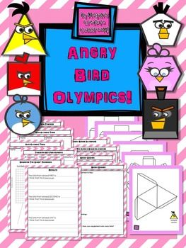 Angry Birds are FUN!My students LOVE them. And the way they fly around really lends itself to an Olympics style project that incorporates simple machines, the scientific method, 3D shapes, problem solving, measurement, graphing, critical thinking, evaluation and reflection!