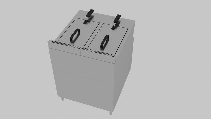 Industrial Deep Fryer 3D Max - 3D Model