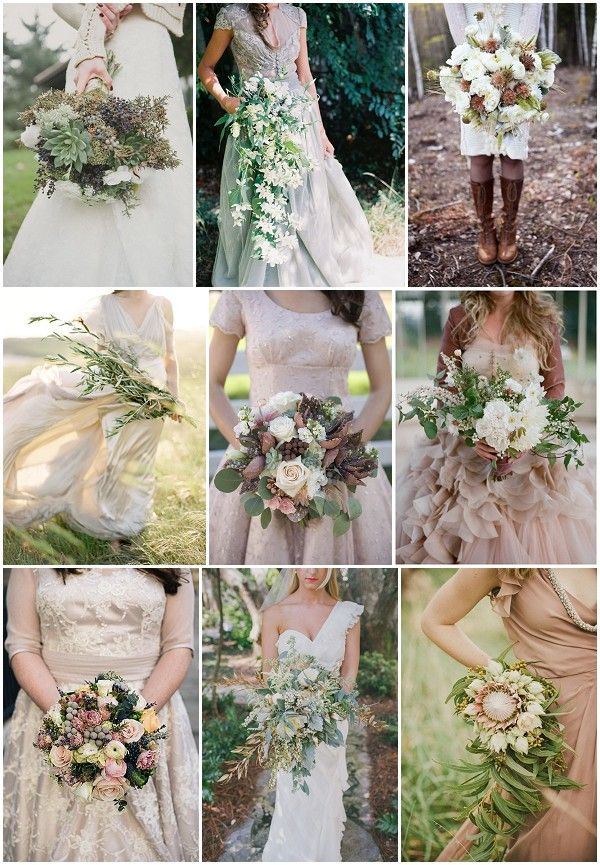rustic wedding bouquet ideas