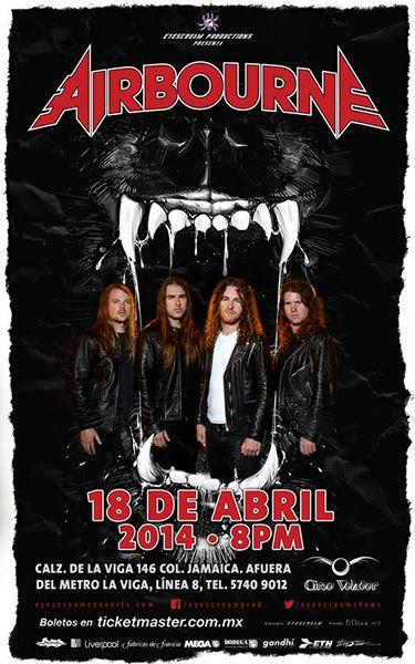 Airbourne en México El 18 de abril en el Circo Volador