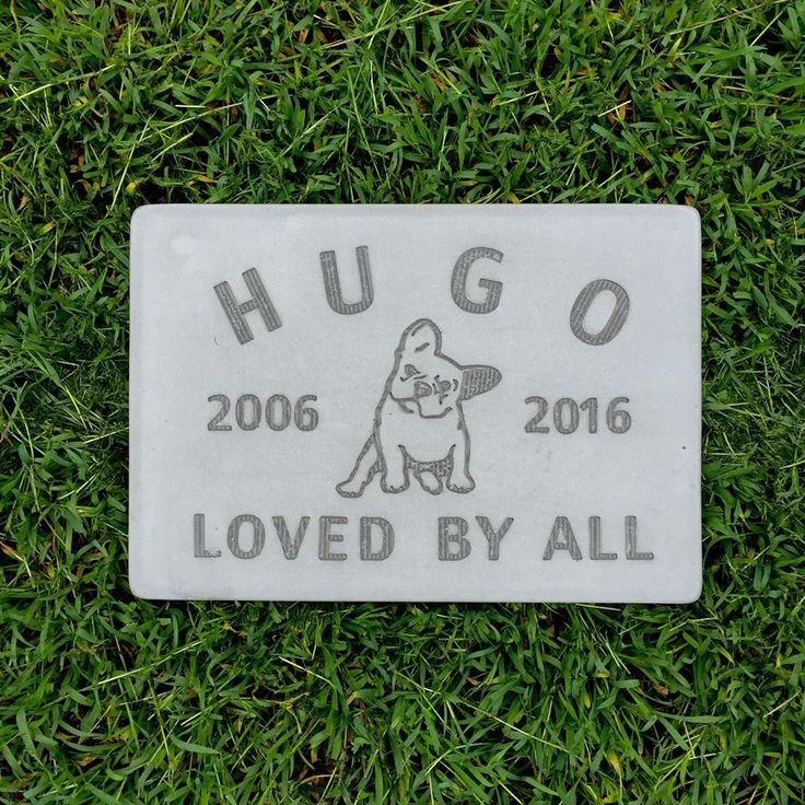 French Bulldog gravestone.  Made to order from http://www.memorialmarkers.com.au/