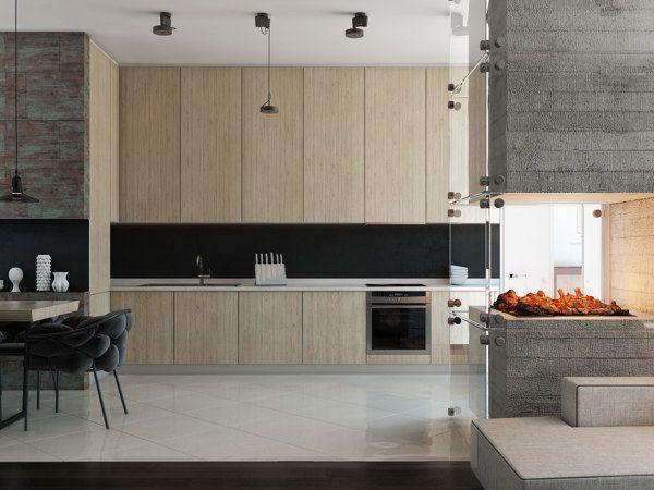 Beech wood kitchen