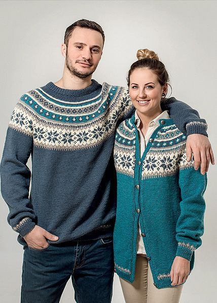 Rundfelt jakke og genser