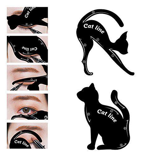 LKE 2 in 1 Cat Eyeliner Stencil, Matte PVC Material Smoky... https://www.amazon.com/dp/B071ZPGDBW/ref=cm_sw_r_pi_awdb_x_xmMAzb8MP3SA3