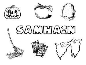 Samhain printables for Pagan kids http://www.littlepaganacorns.com/samhain-collection/
