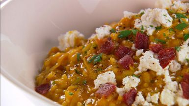 Giada De Laurentiis - Pumpkin and Goat Cheese Risotto