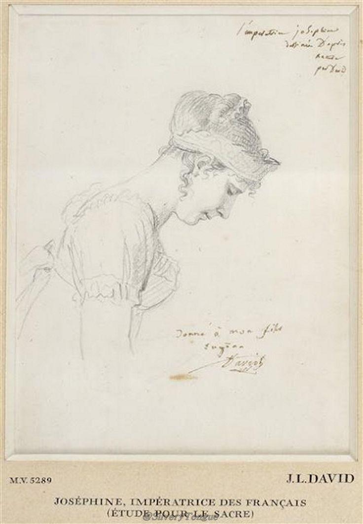 Joséphine, Impératrice de Francaise (etude pour le sacre) Jacques-Louis David.