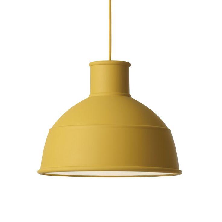 Lampe suspension UNFOLD moutarde en silicone - MUUTO