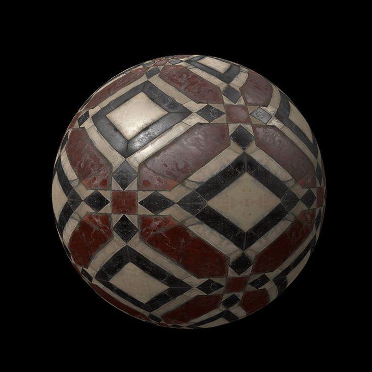 ArtStation - Marble Floor Tile, Ana M Rodriguez