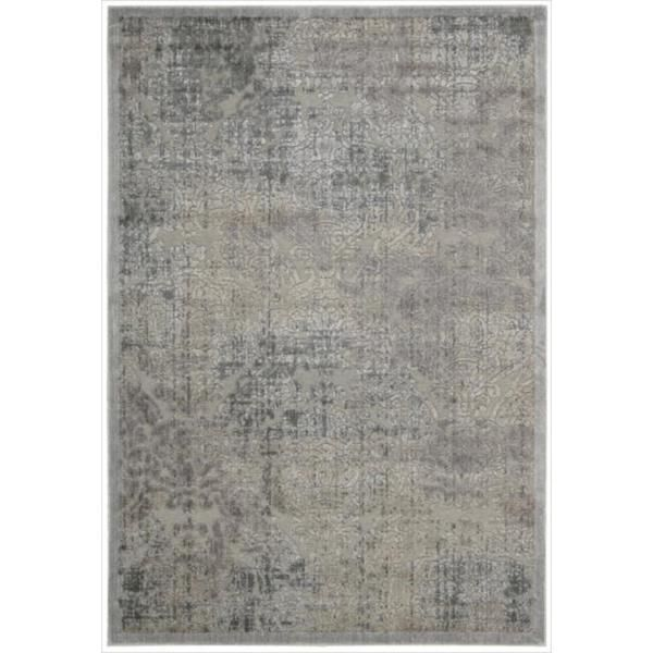 Nourison Graphic Illusions Grey Antique Damask Pattern Rug (5'3 x 7'5) - Overstock™ Shopping - Great Deals on Nourison 5x8 - 6x9 Rugs