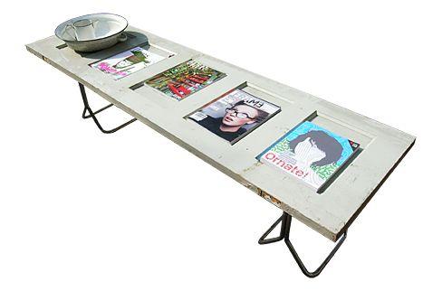 Paneeltafel met buisframe onderstel - Recycle Design