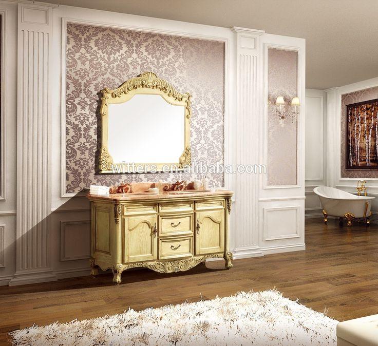 Luxe Grand Salle De Bains Imperial Vanité pour En Suite, Antique Style Européen Jaune Double Évier Salle De Bains Vanity Set WTS230-image-Meuble-lavabo de salle de bain-ID de produit:60618513227-french.alibaba.com