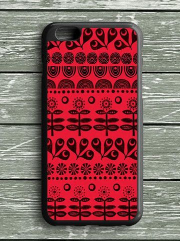 Black Red Pattern Art iPhone 6S Plus Case