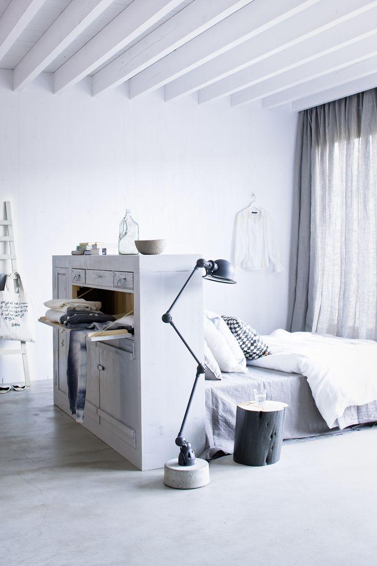 slaapkamer wit grijs