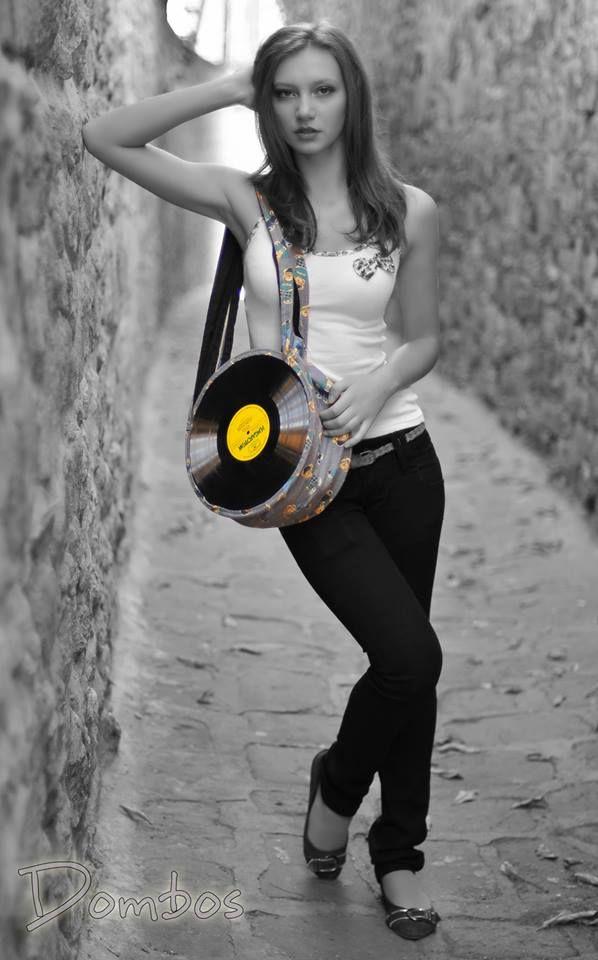 Musicbag with teddy bear #vynil #bag #design