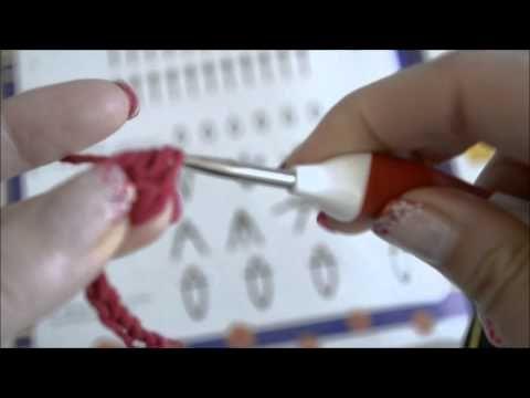 Słupek podwójny (podwójnie nawijany) na szydełku - jak zrobić - YouTube