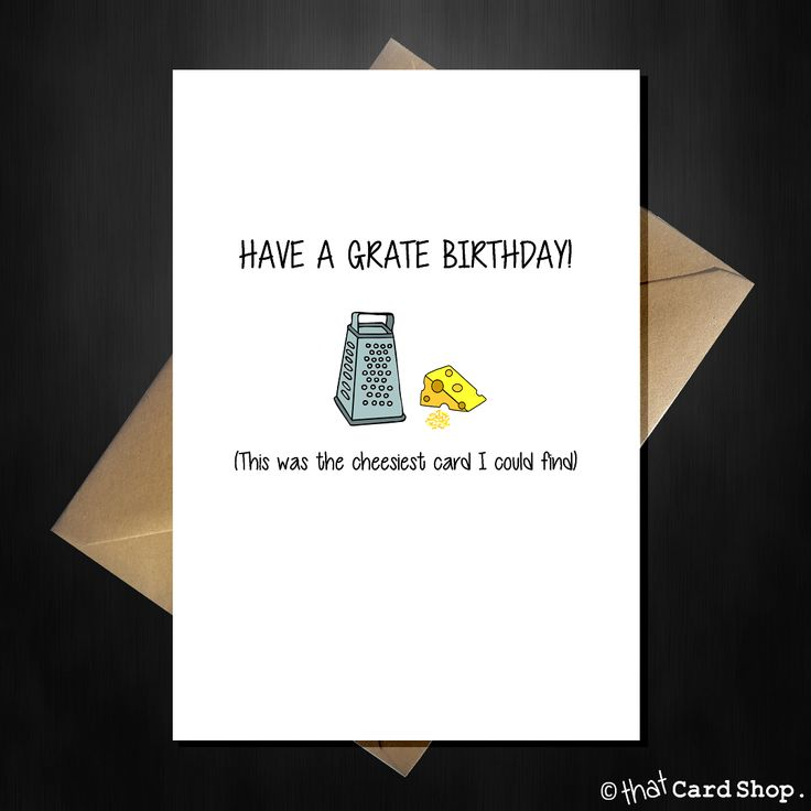 Have a Grate Birthday - Cute Pun Greetings Card
