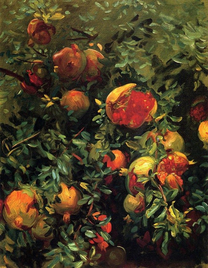 John Singer Sargent (American, 1856-1925) Pomegranates