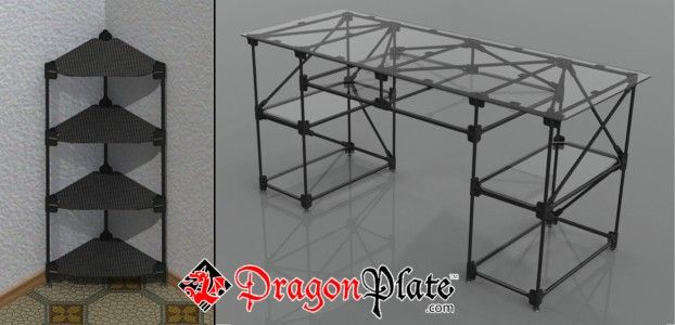 Carbon Fiber Desk/Shelf made with .5 in pultruded tubes and Dragonplate connectors