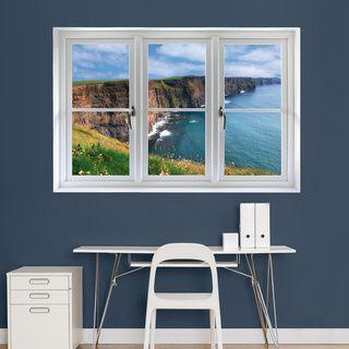 Irish Cliffs' Instant Window | Overstock™ Shopping - The Best Prices on Fathead Vinyl Wall Art