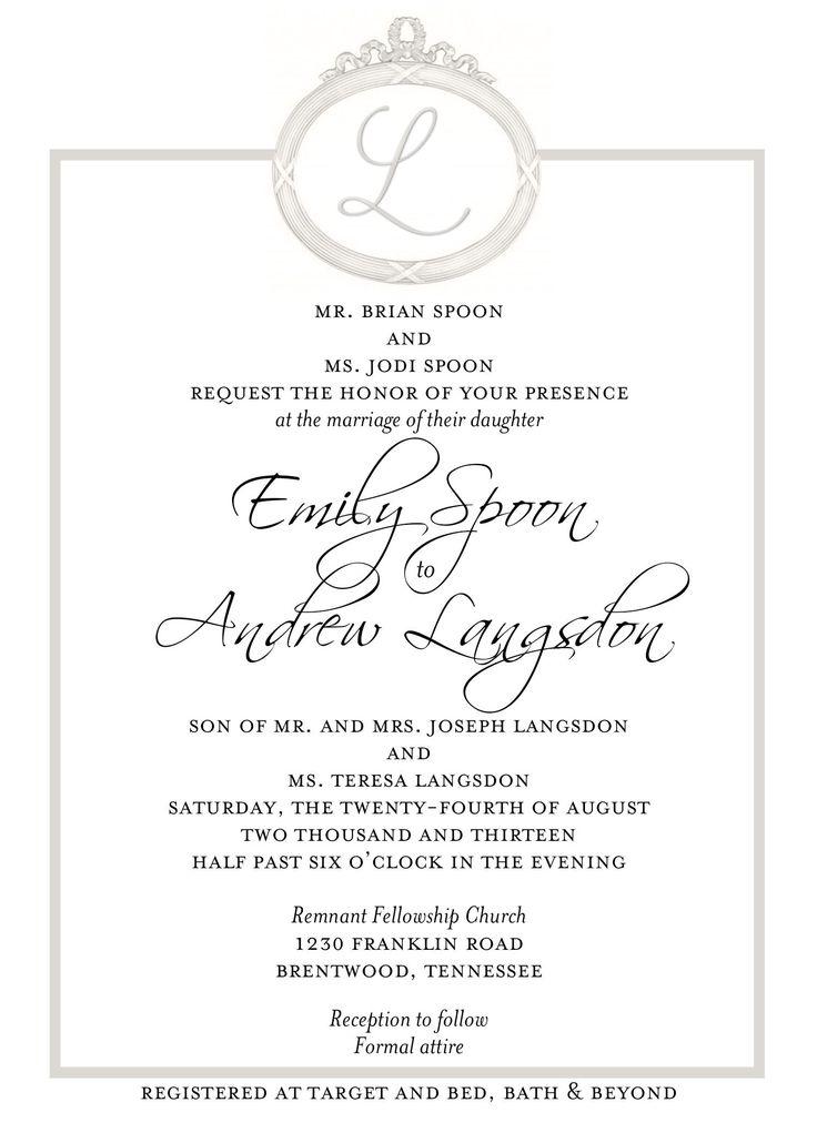 21 best Wedding Invitations images on Pinterest | Bridal invitations ...