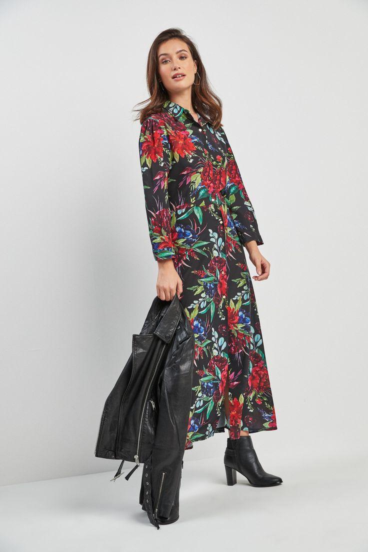 Buy floral midi shirt dress from next israel midi shirt