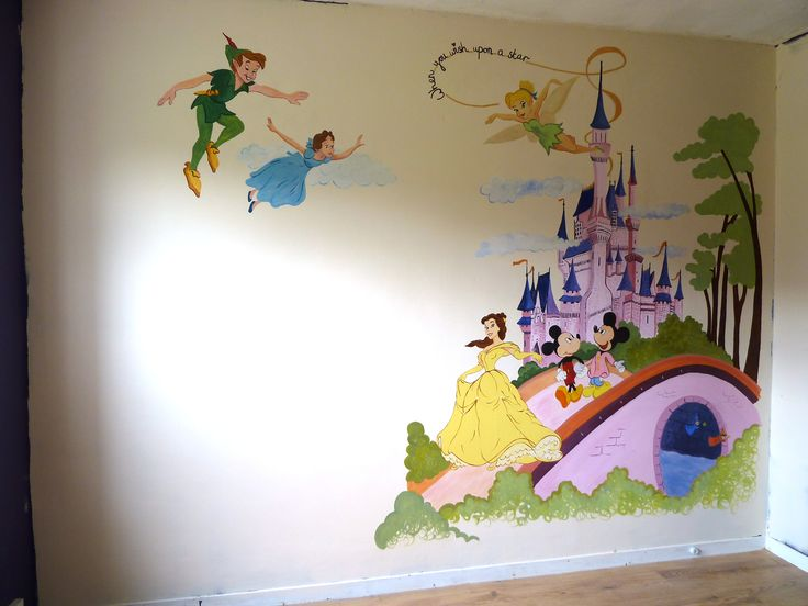 25 best ideas about disney wall murals on pinterest for Disney world mural