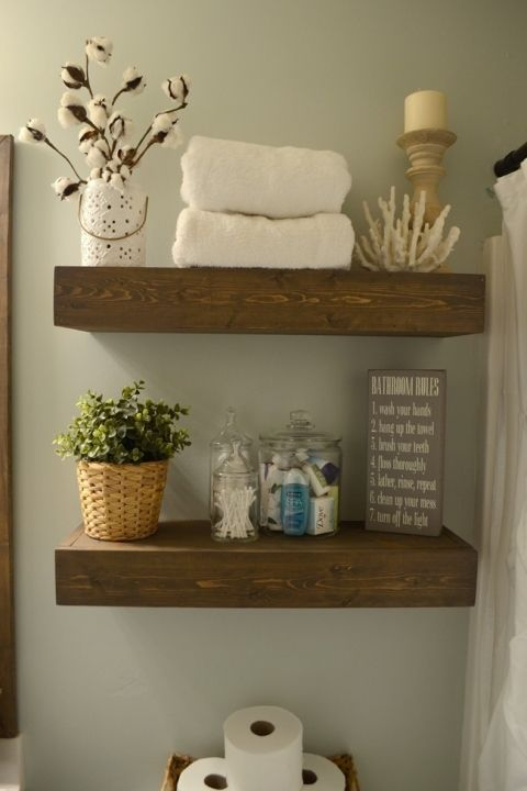 how to make a floating shelf from reclaimed wood