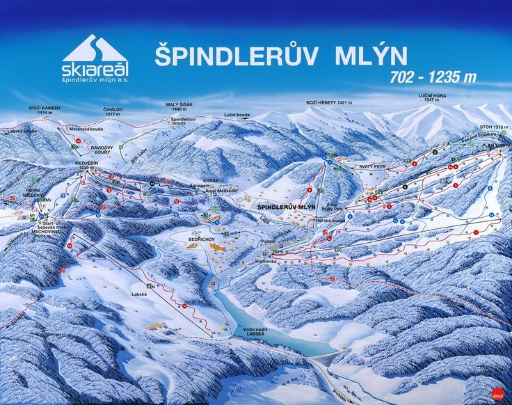 Pistenplan Spindlermühle - Panorama Spindlermühle - Panoramakarte Spindlermühle - Skikarte Spindlermühle