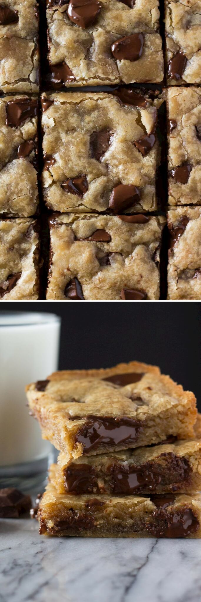 Brown butter & Dark Chocolate Chunks come together in these AMAZING blondies. No mixer, one bowl & ridiculously delicious!