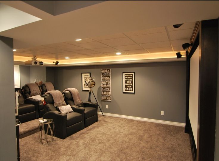 Macomb Twp Basement   Contemporary   Basement   Detroit   Inc. Home Theatre,  Home Theater Design, Theatre Rooms ...