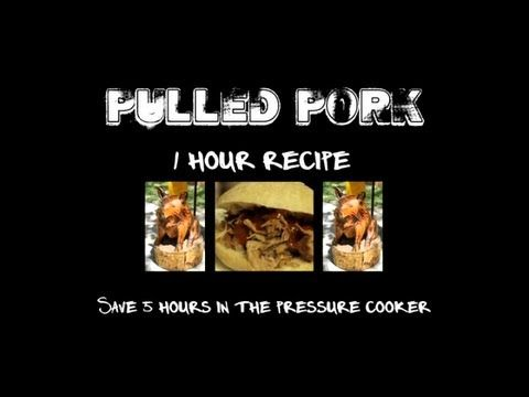 ▶ How to Make Pulled Pork - Pressure Cooker Pulled Pork Recipe in 1 Hour - YouTube
