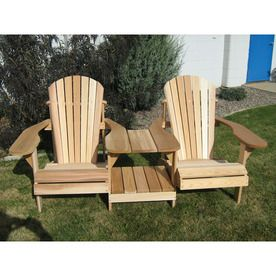 All Things Cedar Muskoka Tan Cedar Patio Adirondack Chair