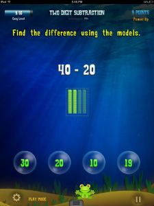 Great App for 2nd Graders to help them with subtraction    2.OA.1  Use addition and suntraction withing 100 to solve one and two step word problems