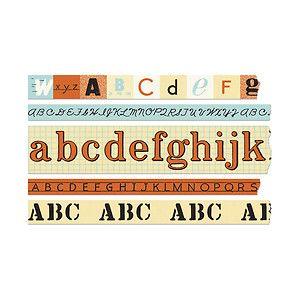 Cavallini - Tin of Adhesive Washi-Style Decorative Paper Tape - Alphabet-5 Rolls | eBay