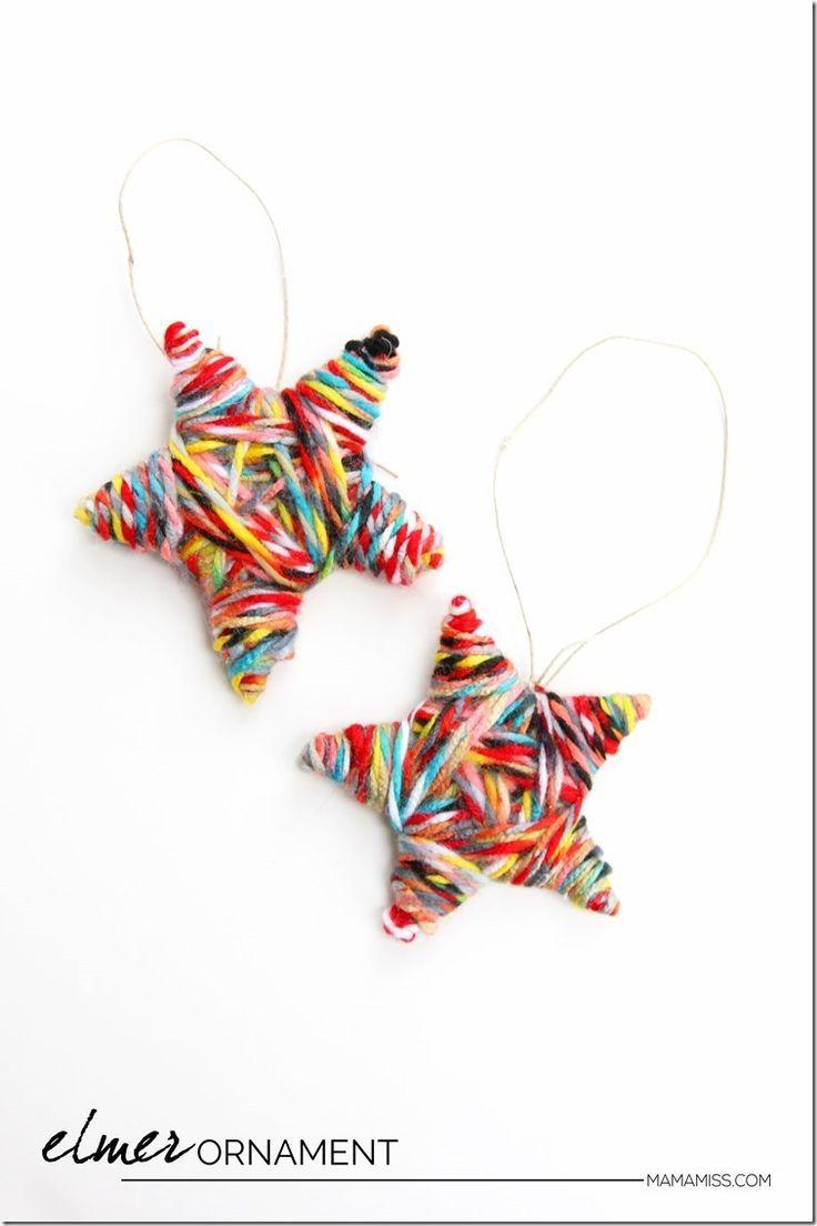 10 Days of a Kid-Made Christmas - Elmer Ornament | @mamamissblog