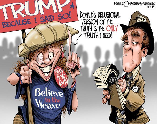 Editorial cartoon on Donald Trump