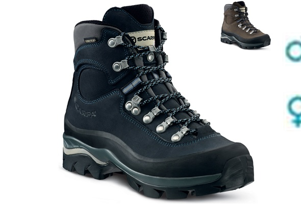 my Scarpa ZG10 ladies hiking boots. Took me to the Himalayas. Very comfortable. Scaled a few Munros in Scotland.