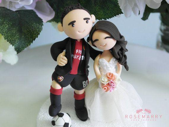 Custom Wedding Cake Topper Arsenal Fan And His Forever Girfriend