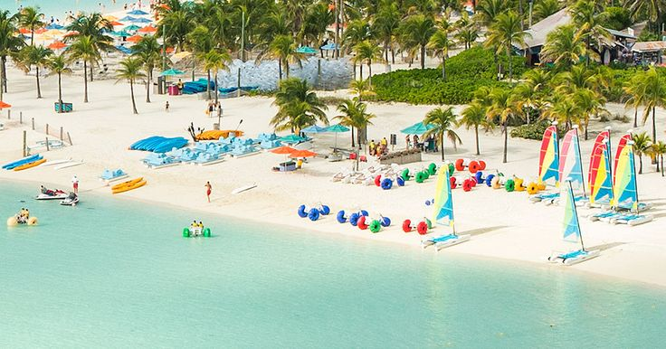 Magical Caribbean and Bahamas cruises from Port Canaveral or Miami, calling at Disney's island, Castaway Cay.