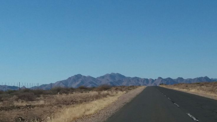 Driving through Namibia