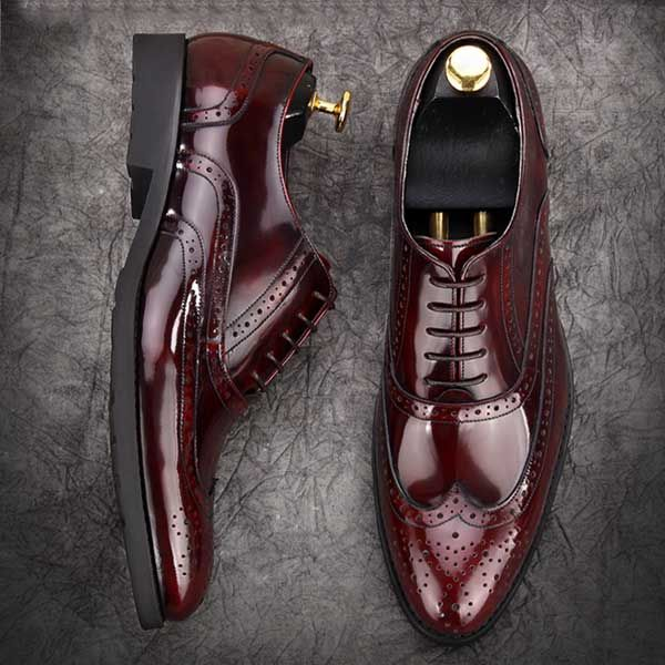 wine-red-patent-leather-brogues-fashionable-formal-mens-grooms-shoes1