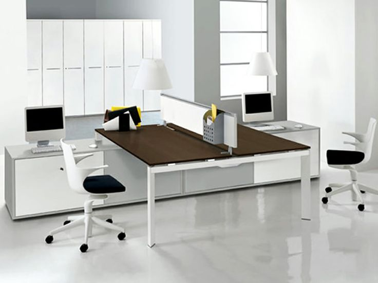 Modern Office Interior Design with Double Entity Desk Collection by Antonio  Morello  United States Design Images Photos and Pictures Gallery   Designers