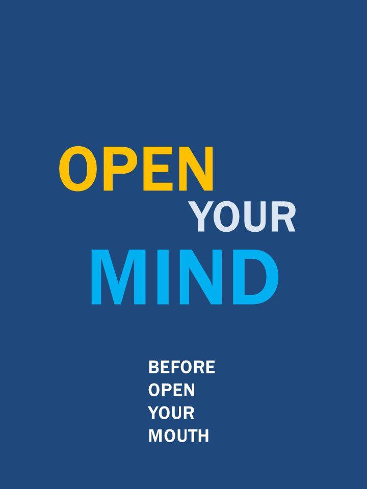 내 마음을 보이려면 open your mind, before open your mouth - 당신 삶에 영감을 주는 이야기들 Inspiration Trend Design - Vingle. Very Community.