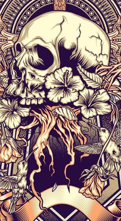 by Firman Hatibu #Skulls  http://www.creativeboysclub.com/wall/creative