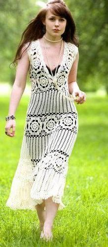 Crochê: Vestido - Modelo